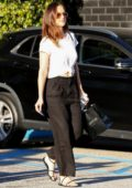 Minka Kelly shops for fine jewelry at XIV Karats in Beverly Hills, Los Angeles