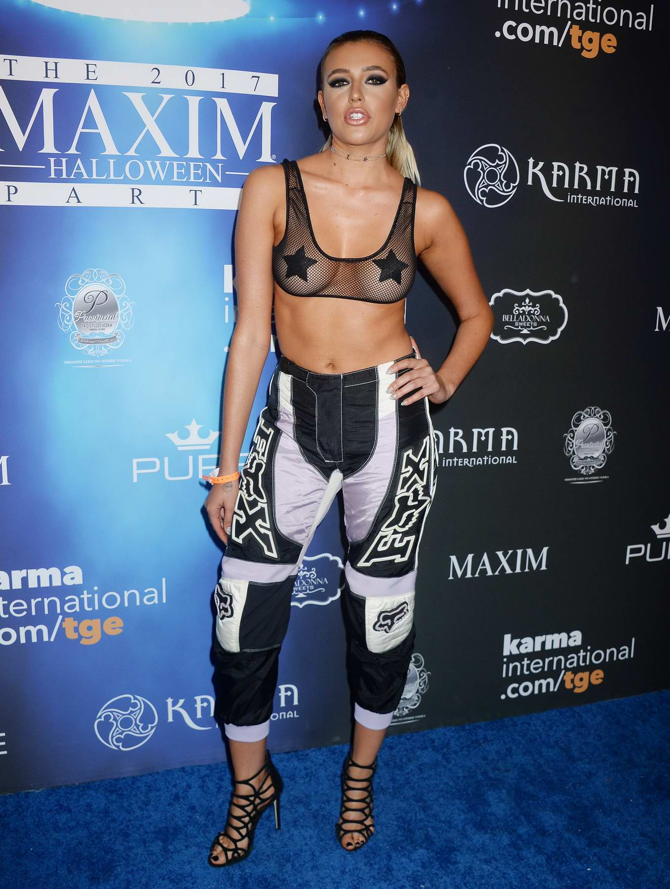 Monica Sims at the Maxim Halloween party in Los Angeles