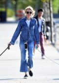 Naomi Watts walking her dog at the dog park in Tribeca, New York City