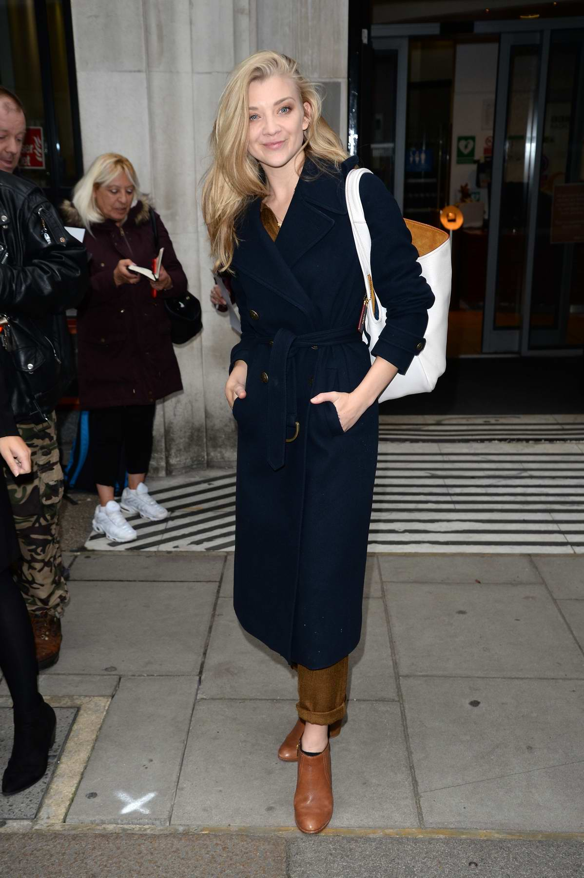 Natalie Dormer is spotted leaving BBC Radio 2 in London