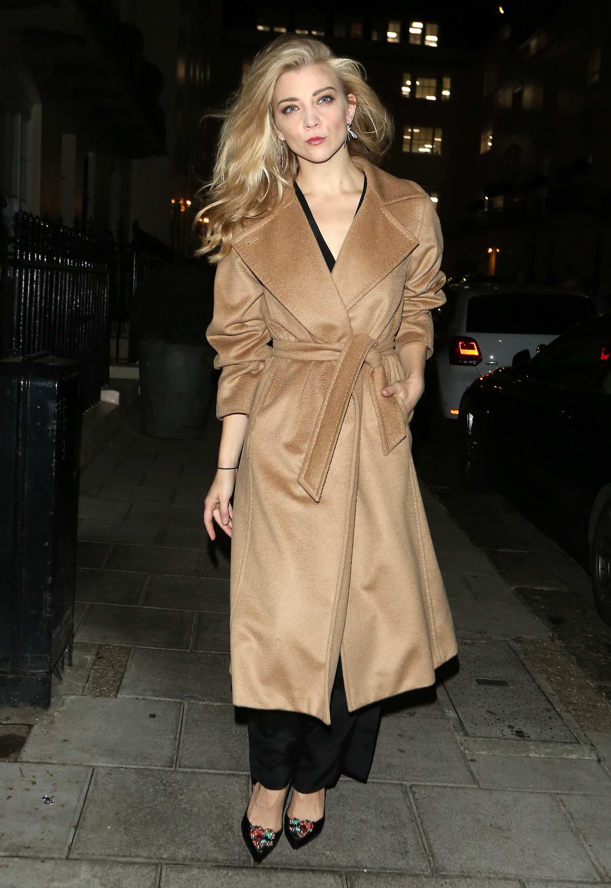 Natalie Dormer leaves the west end play Venus in Fur in London