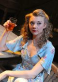 "Natalie Dormer performing in the play ""Venus in Fur"" at the Theatre Royal Haymarket in London"
