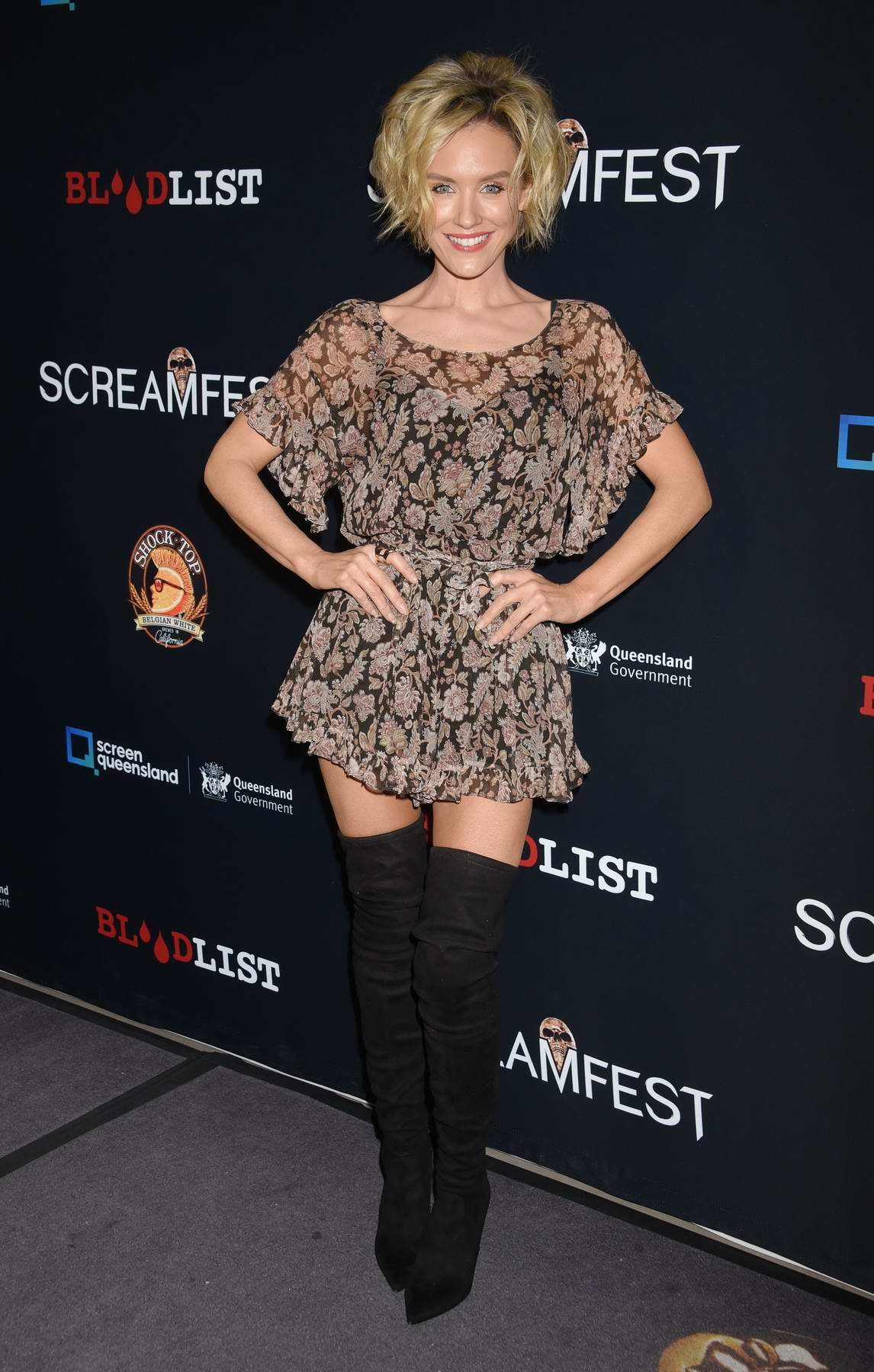 Nicky Whelan at the premiere of Tragedy Girls during Screamfest Horror Film Festival in Los Angeles