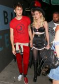 Nicola Peltz and Anwar Hadid arrives at Matthew Morrison's 8th annual Halloween party in West Hollywood, Los Angeles