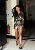 Nicole Scherzinger spotted leaving the Dorchester hotel in London