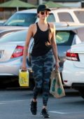 Nina Dobrev after her workout gets some groceries at the Wholes Foods in Los Angeles