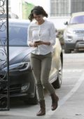 Nina Dobrev arrives at Nine Zero One Salon in West Hollywood, Los Angeles