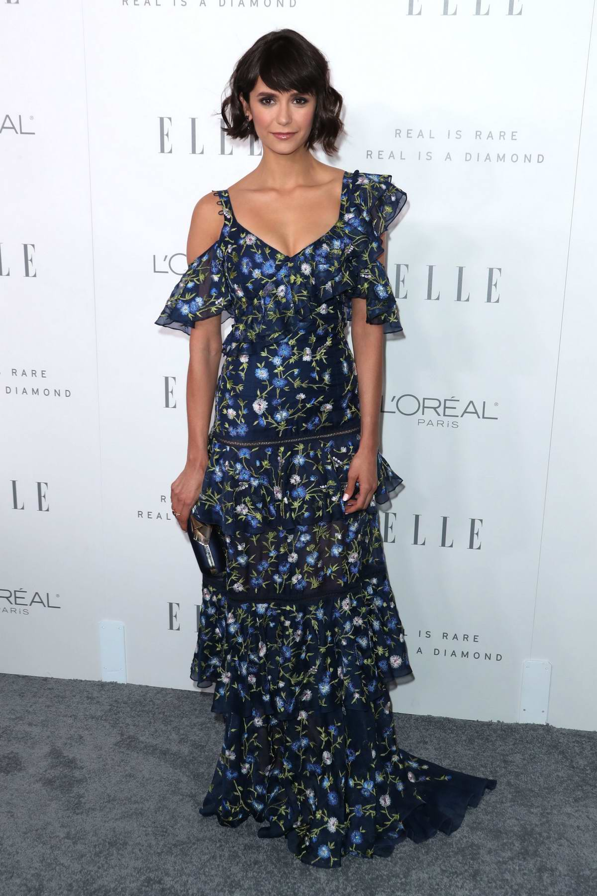 Nina Dobrev at the Elle's 24th Annual Women in Hollywood Celebration in Los Angeles