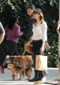 Nina Dobrev seen on set of movie Dog Days in Los Angeles