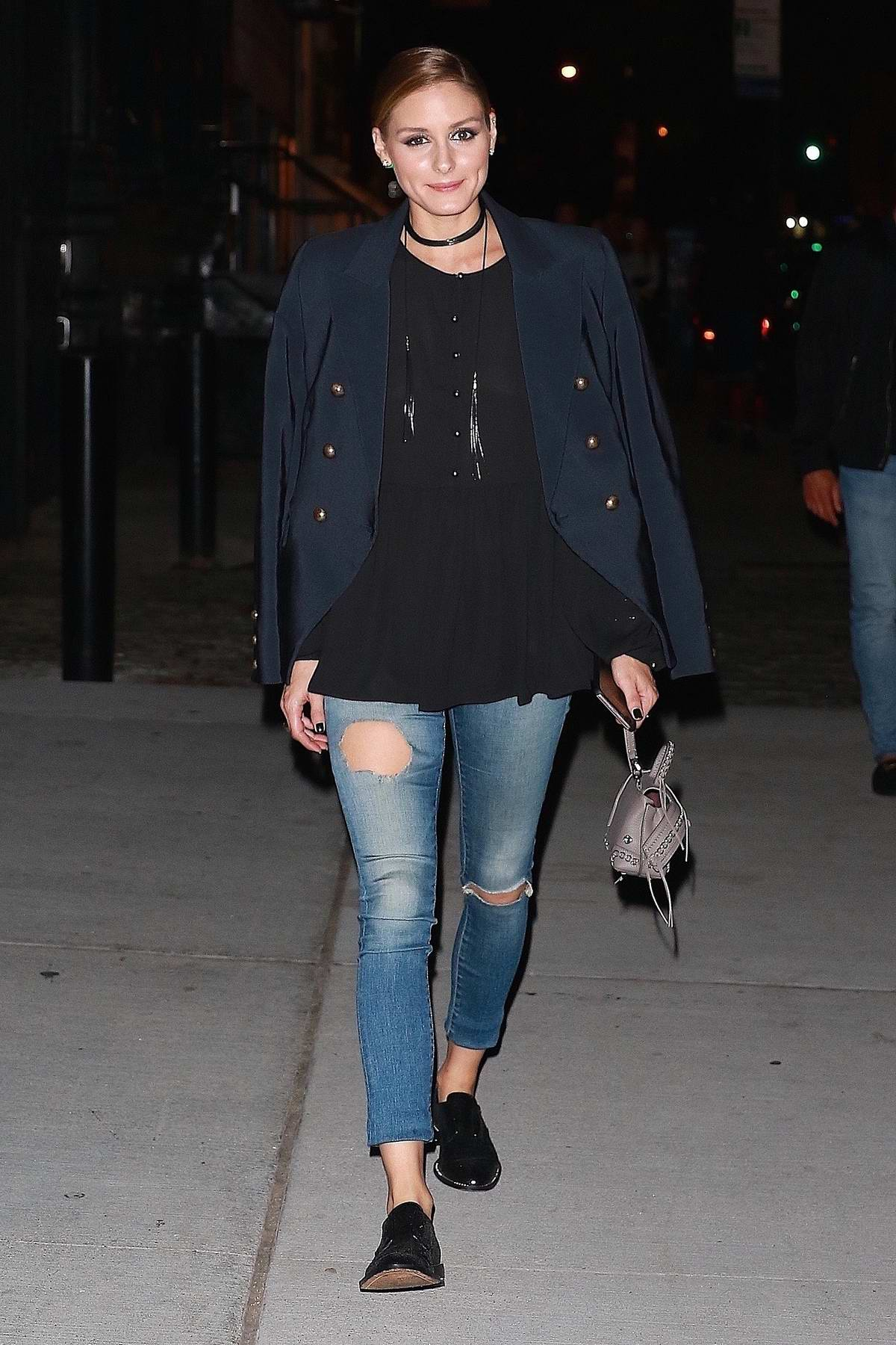 Olivia Palermo and husband Johannes Huebl have a dinner date night at BondST Restaurant in New York