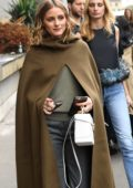Olivia Palermo is spotted leaving Giambattista Valli Show during Paris Fashion Week, France