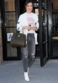 Olivia Wilde leaving her hotel in New York City