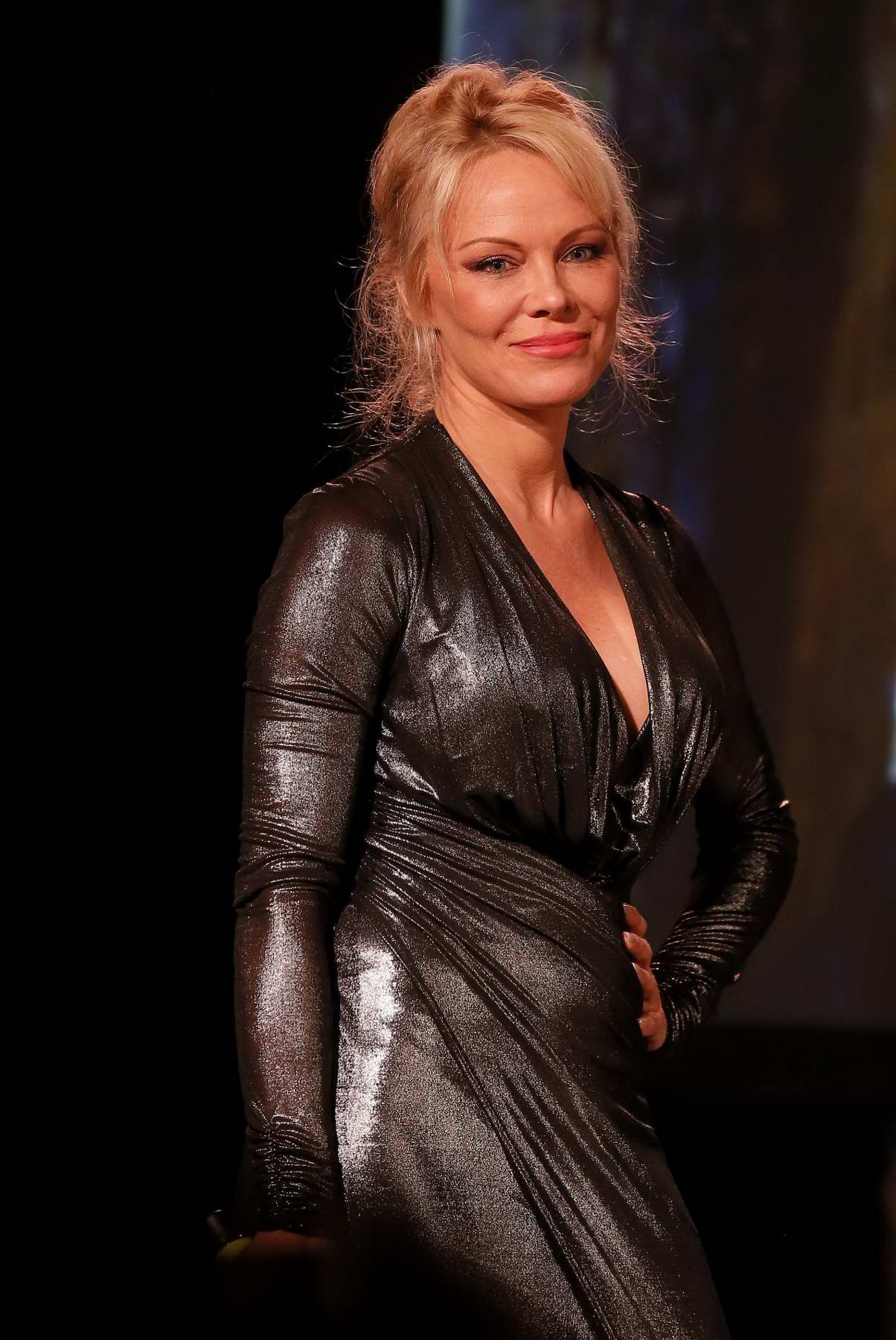 Pamela Anderson at Sea Shepard 40th Anniversary in Bordeaux, France