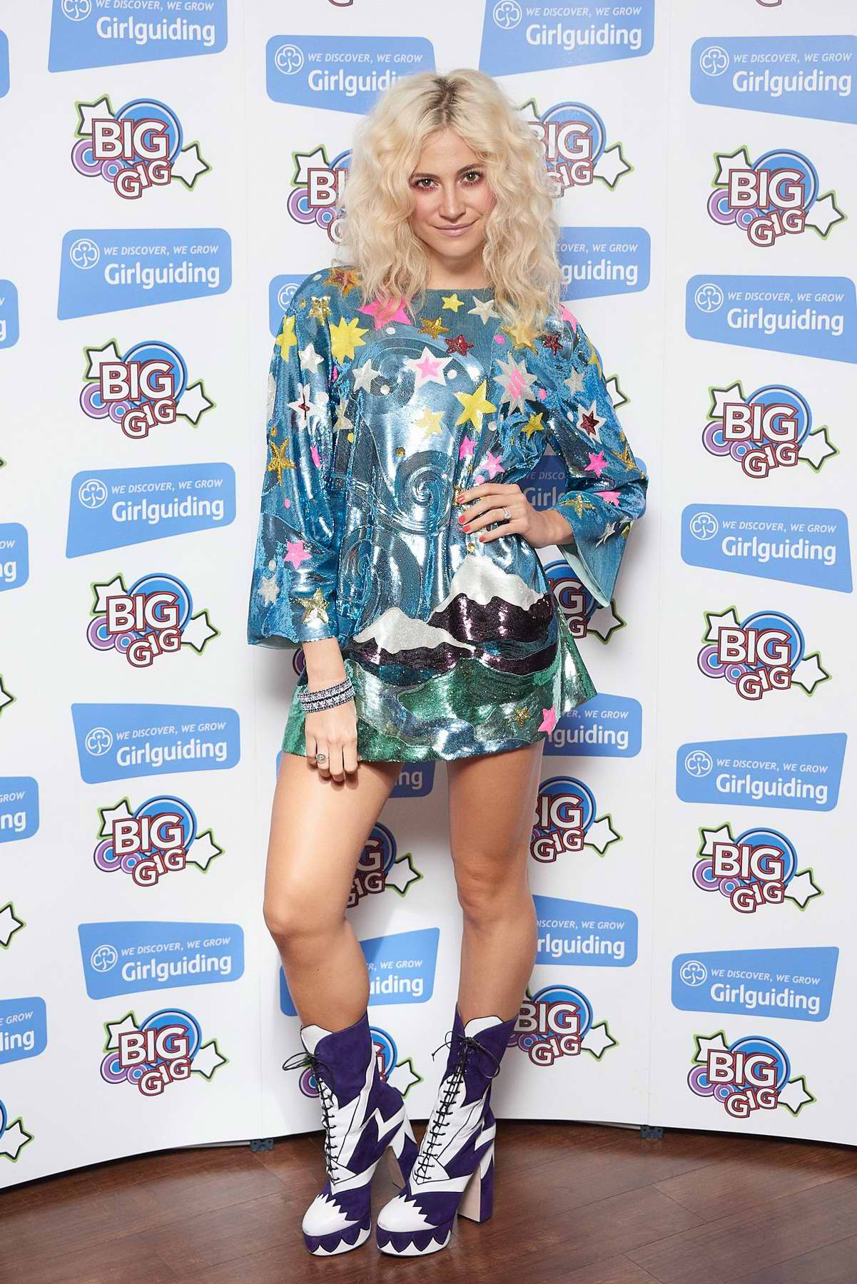 Pixie Lott at the Girl Guides Big Gig 2017 at the SSW Wembley Arena in London