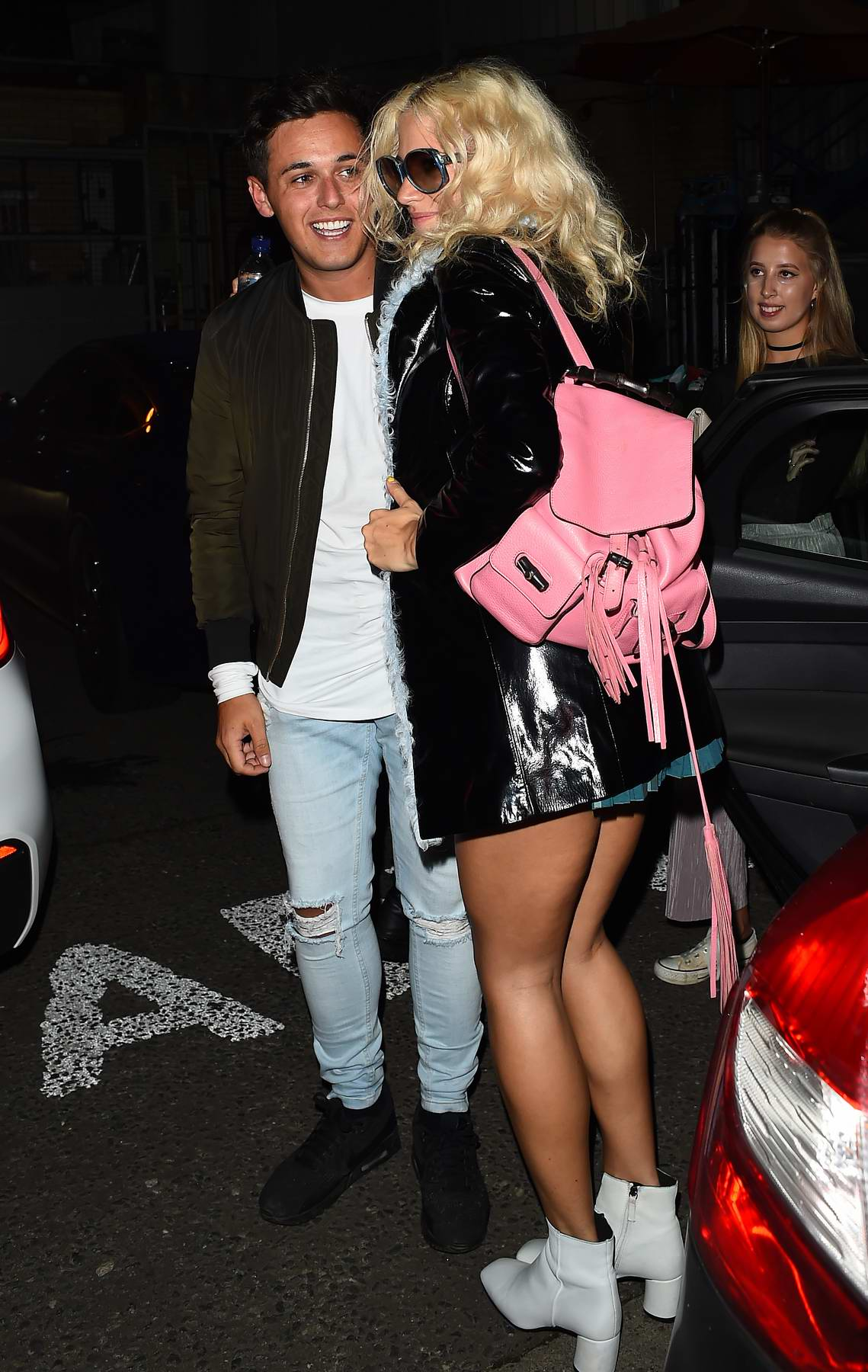 Pixie Lott seen after she performs at Freshers Week Party in London