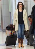 Rachel Weisz is spotted with husband, Daniel Craig arriving at JFK Airport in New York City