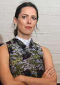 Rebecca Hall at the press conference for Professor Marston and the Wonder Women at the HFPA offices in West Hollywood, Los Angeles