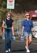 Reese Witherspoon and daughter Ava Phillippe seen at Tennessee's soccer game in Santa Monica, California