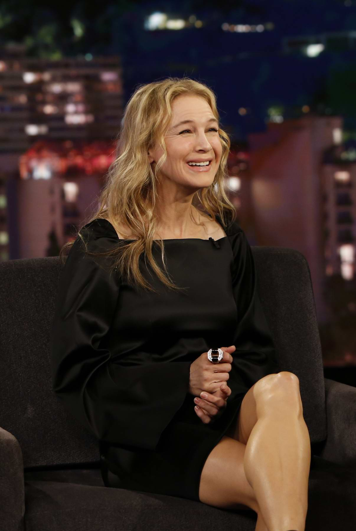 Renee Zellweger visits Jimmy Kimmel Live! in Los Angeles