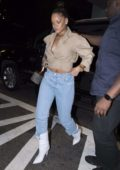 Rihanna steps out in cowboy boots for a night out in New York