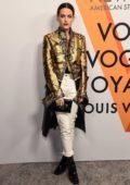 Riley Keough at Louis Vuitton 'Volez, Voguez, Voyagez' exhibition opening in New York