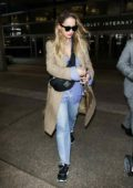 Rita Ora arrives at LAX International Airport, Los Angeles