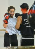 Rita Ora enjoys a sparring session at the gym in New York