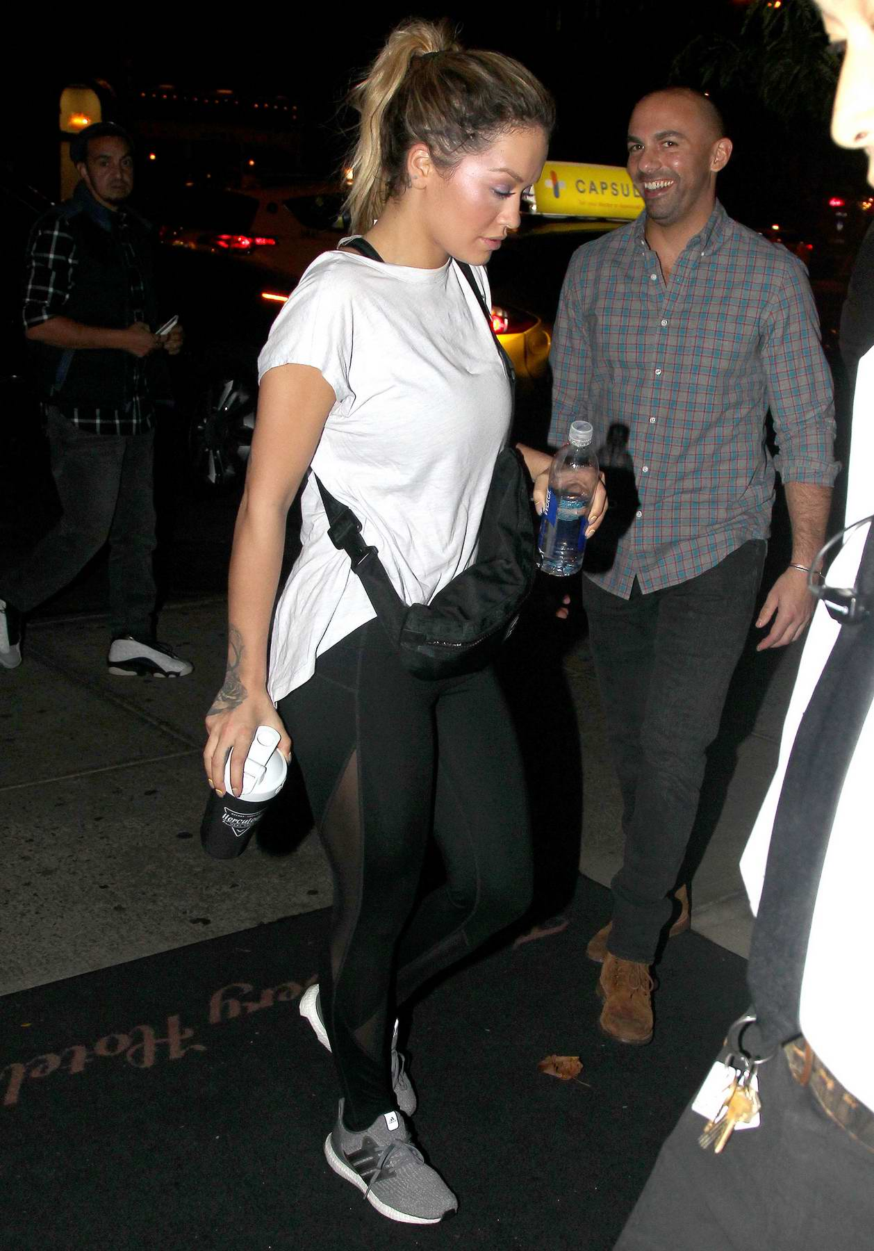 Rita Ora is spotted returning to her hotel after a late night gym session in New York City