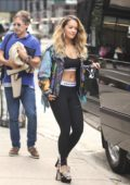 Rita Ora rocks a Paco Rabanne sportswear while heading to the set of her music video in New York City
