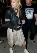 Rita Ora spotted leaving Shamrock Tattoo in West Hollywood