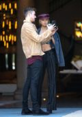 Romee Strijd and her boyfriend out for lunch at Zinque Café in West Hollywood, Los Angeles