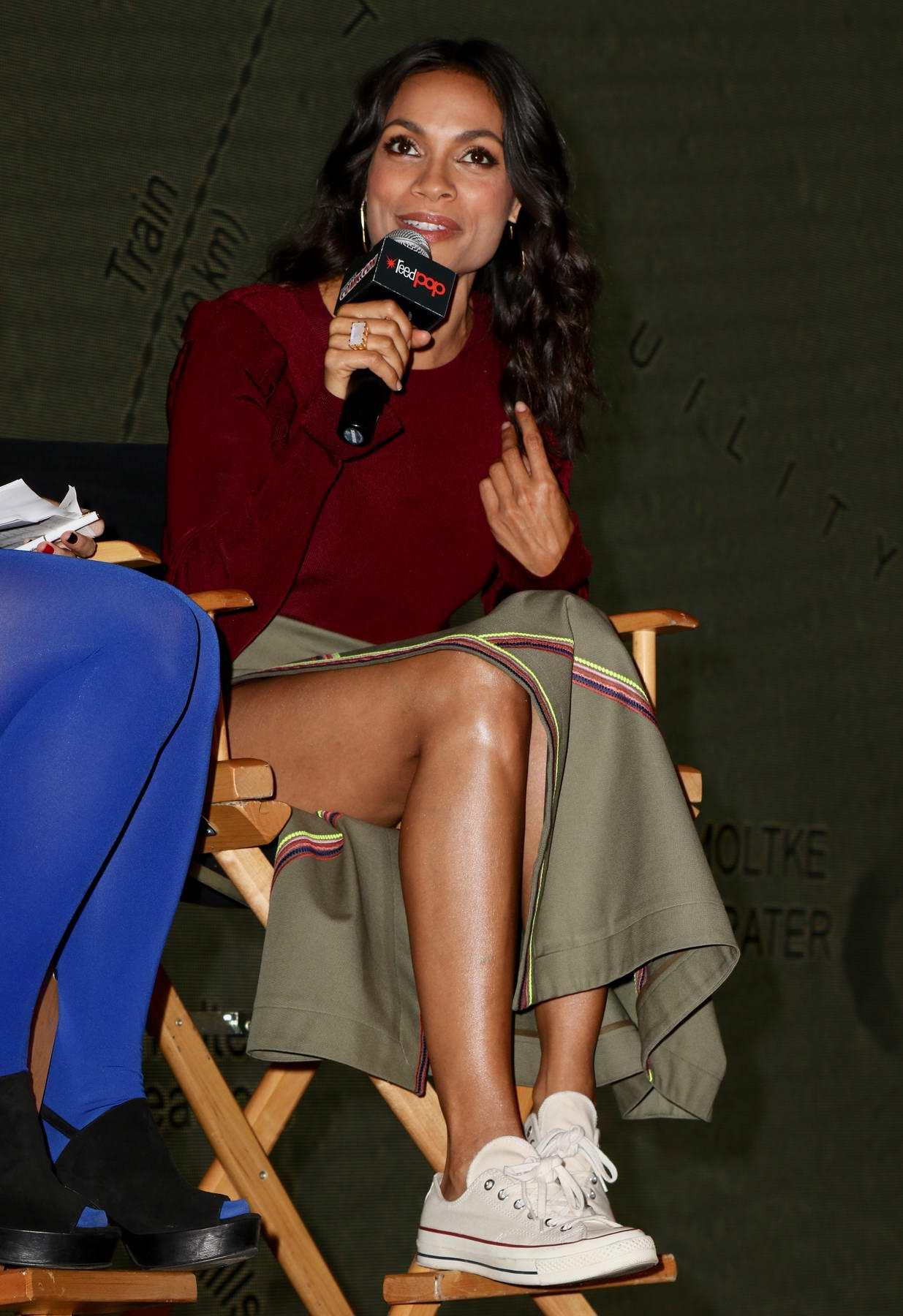 Rosario Dawson attends Comic-Con 2017 in New York City