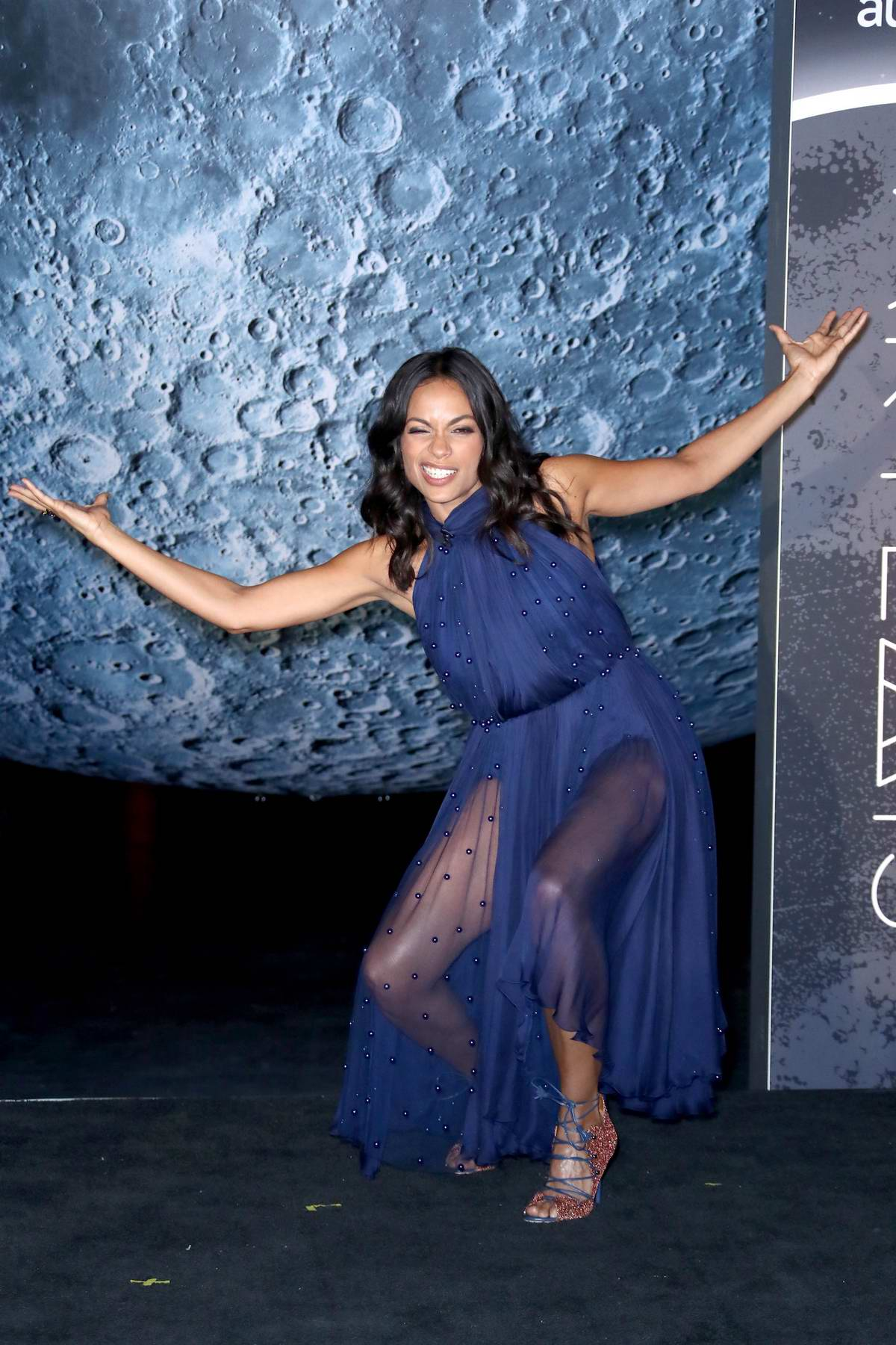 Rosario Dawson at the Opening of Museum of Artemis: Life on the Moon during Comic-Con in New York