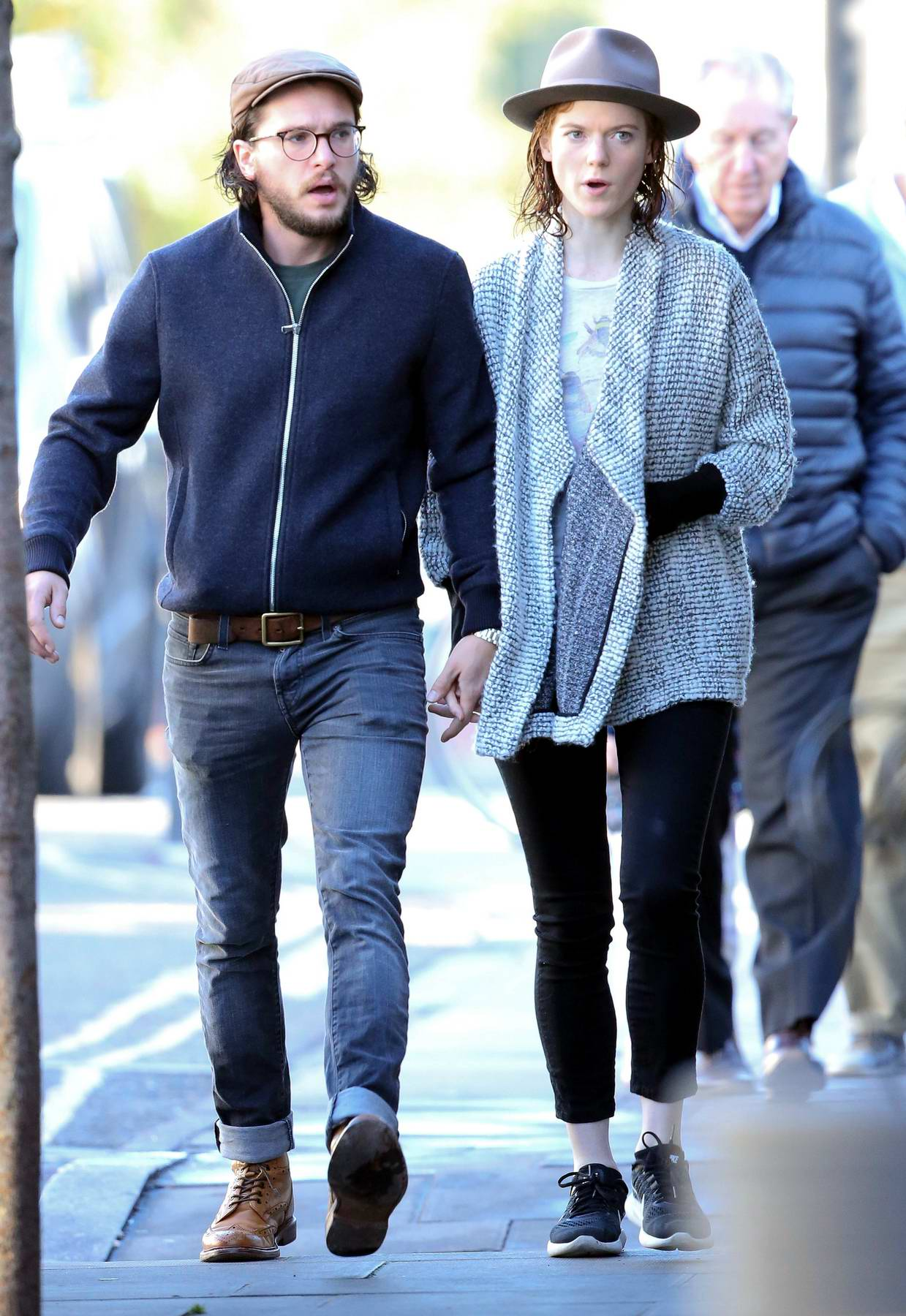 Rose Leslie and Kit Harington spotted for the first time since their engagement news, London