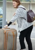 Rose Leslie arrives at Heathrow Airport in London