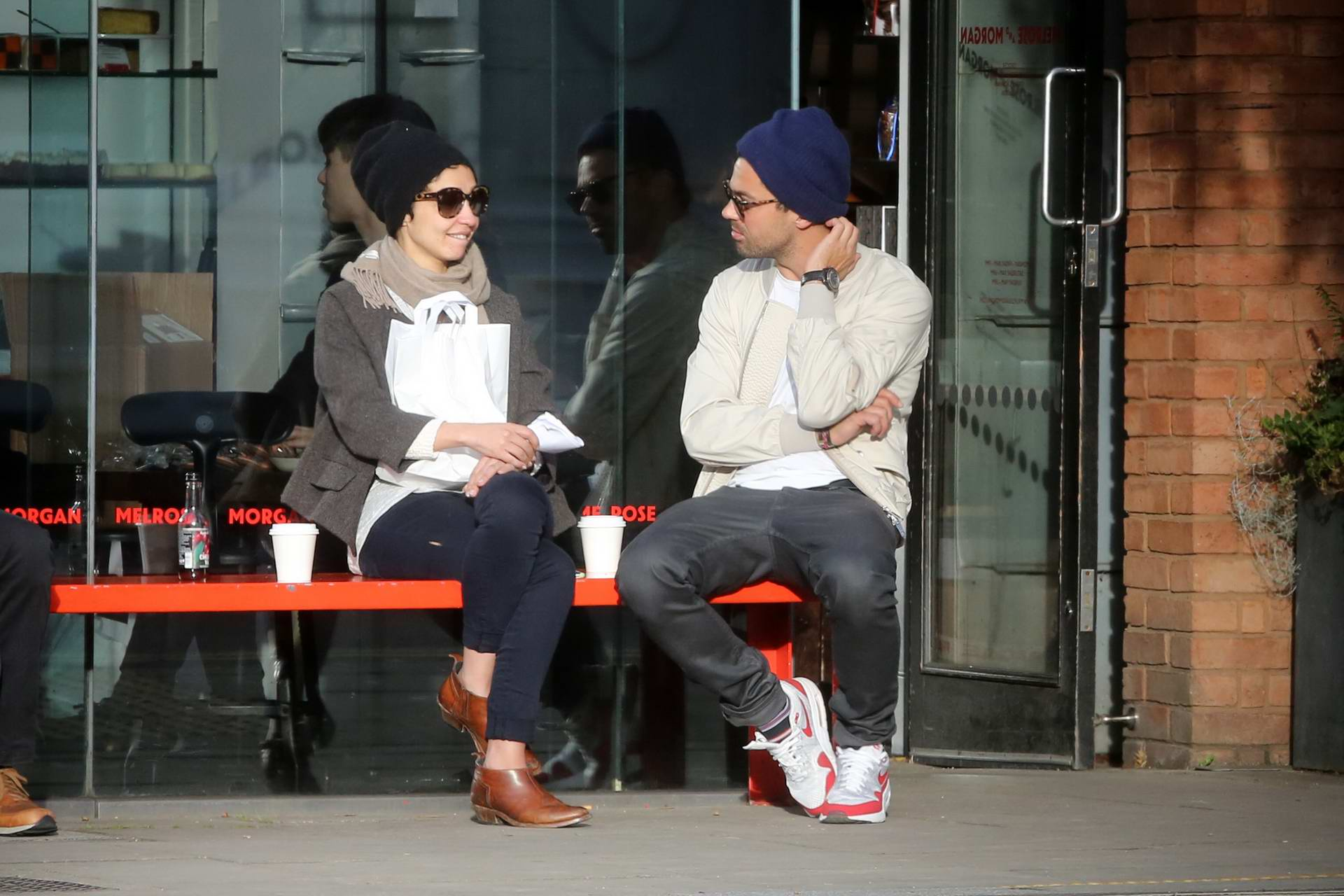 Ruth Negga and Dominic Cooper seen outside Melrose and Morgan in Primrosehill, London