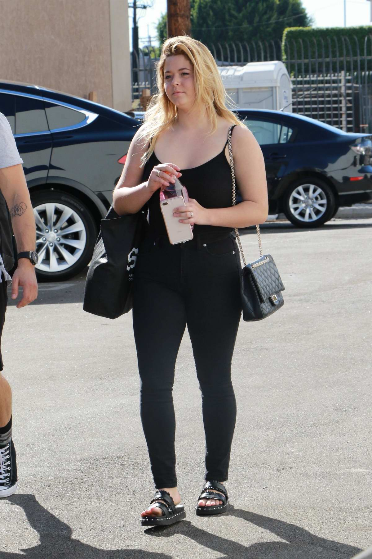 Sasha Pieterse heads into Dancing With The Stars rehersals in Los Angeles