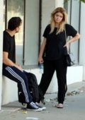 vanessa hudgens grab a couple of iced coffee while out in los angeles-081017_#