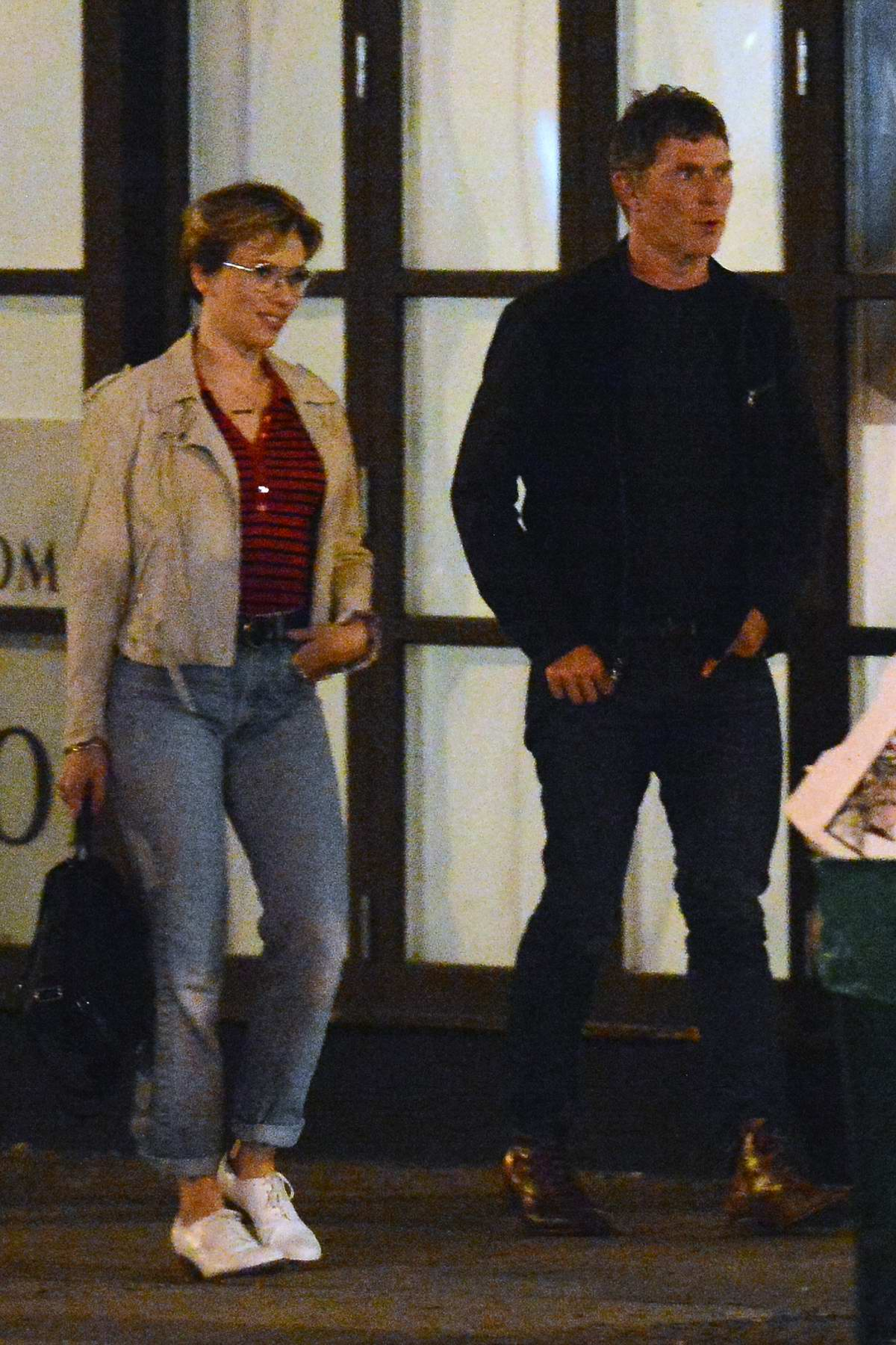 Scarlett Johansson and Bobby Flay step out for a late night dinner together in New York City
