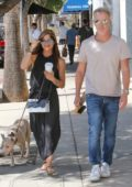 Selma Blair and Ron Carlson enjoy some coffee at Joan's on Third in Los Angeles
