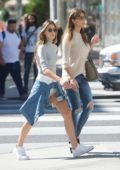 Sistine Stallone and mom Jennifer Flavin are seen shopping at Chanel on Rodeo Drive in Beverly Hills, Los Angeles