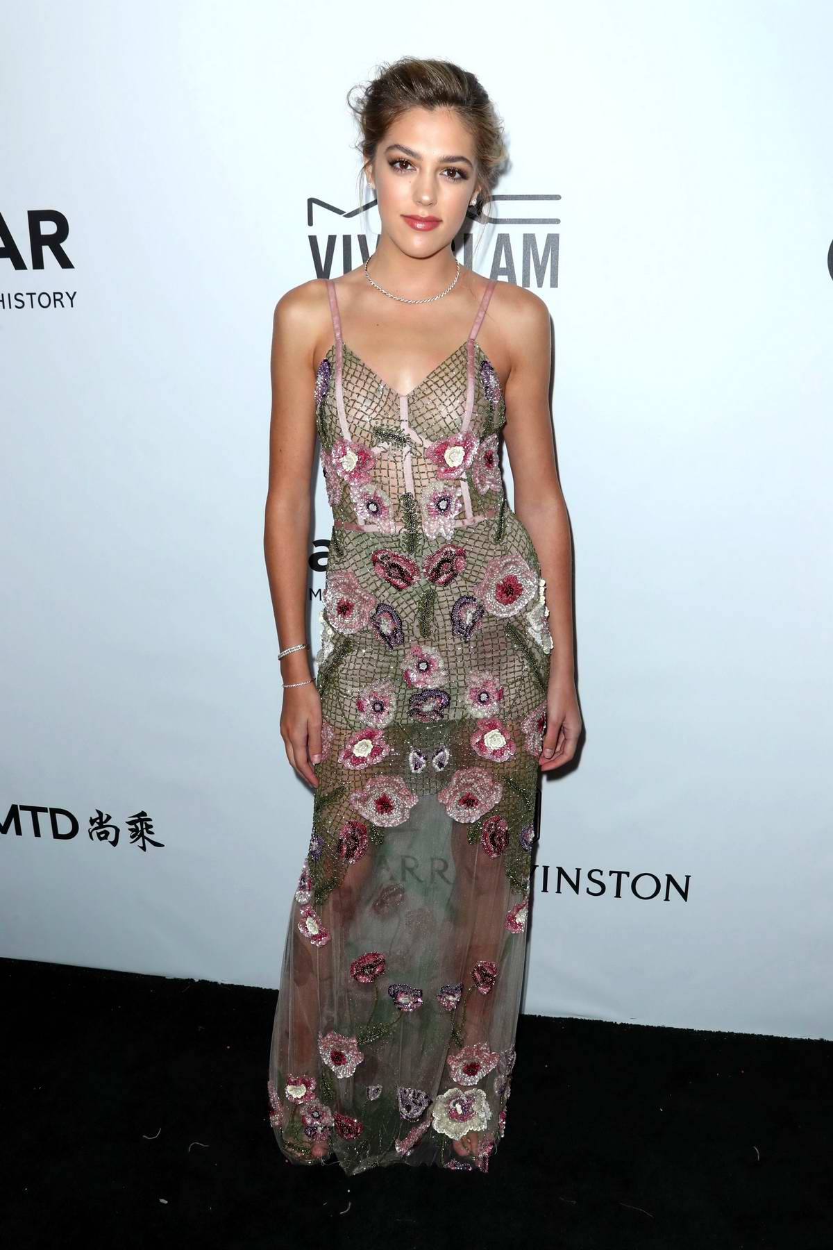 Sistine Stallone at the amfAR Inspiration Gala in Los Angeles