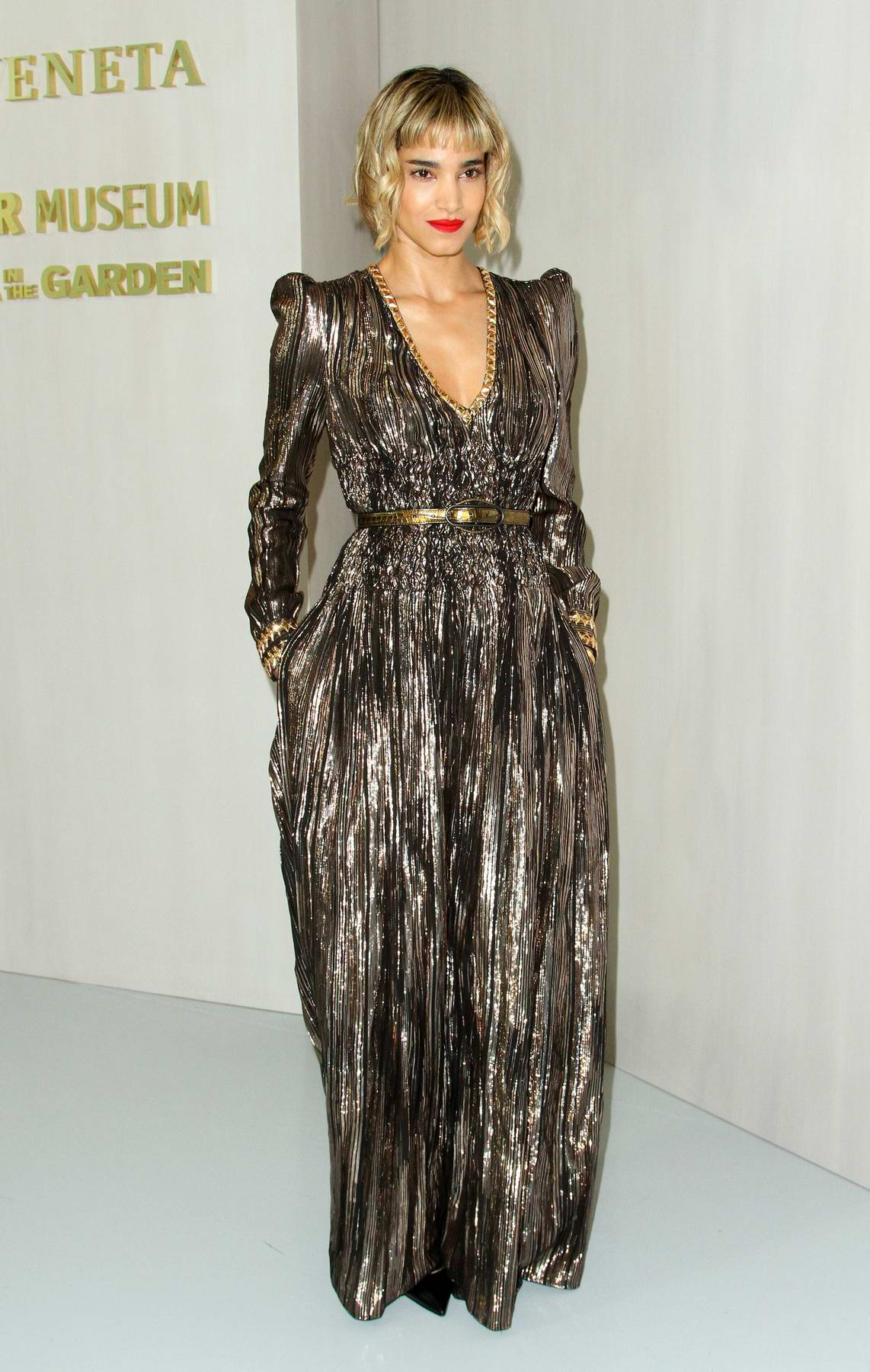Sofia Boutella at Hammer Museum Gala in the garden honoring Ava Duvernay held at The Hammer Museum in Los Angeles
