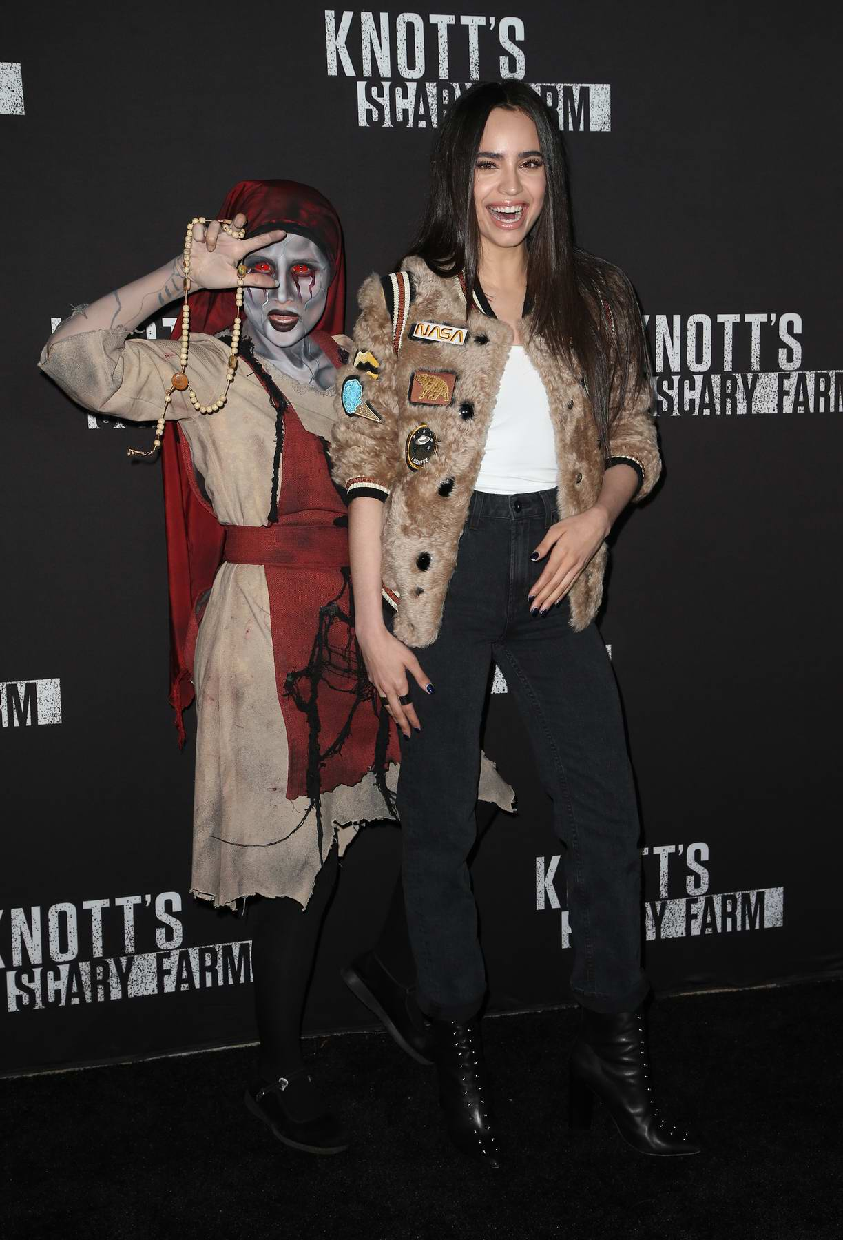 Sofia Carson at Knott's Scary Farm Celebrity Night in Buena Park, California