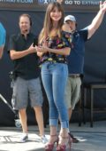 Sofia Vergara spotted filming Extra at Universal Studios in Los Angeles
