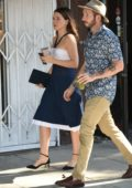 Sophia Bush stops by Alfreds Coffee with a friend in Los Angeles