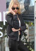 Stella Maxwell leaving Chanel Show during Paris Fashion Week, France