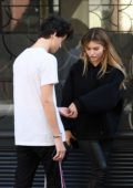 Thylane Blondeau is spotted with a boy during Paris Fashion Week, France
