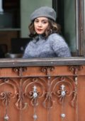Vanessa Hudgens filming a scene for her upcoming movie 'Second Act' in New York