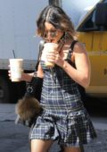 Vanessa Hudgens grab a couple of iced coffee while out in Los Angeles